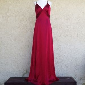 Laundry by Shelli NWT silky red low back dress